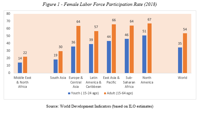 Figure 1 - Female Labor Force Participation Rate (2018)