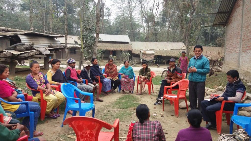 Community meeting in Assam to discuss human-wildlife conflict. Photo credit: Alexandra Zimmermann