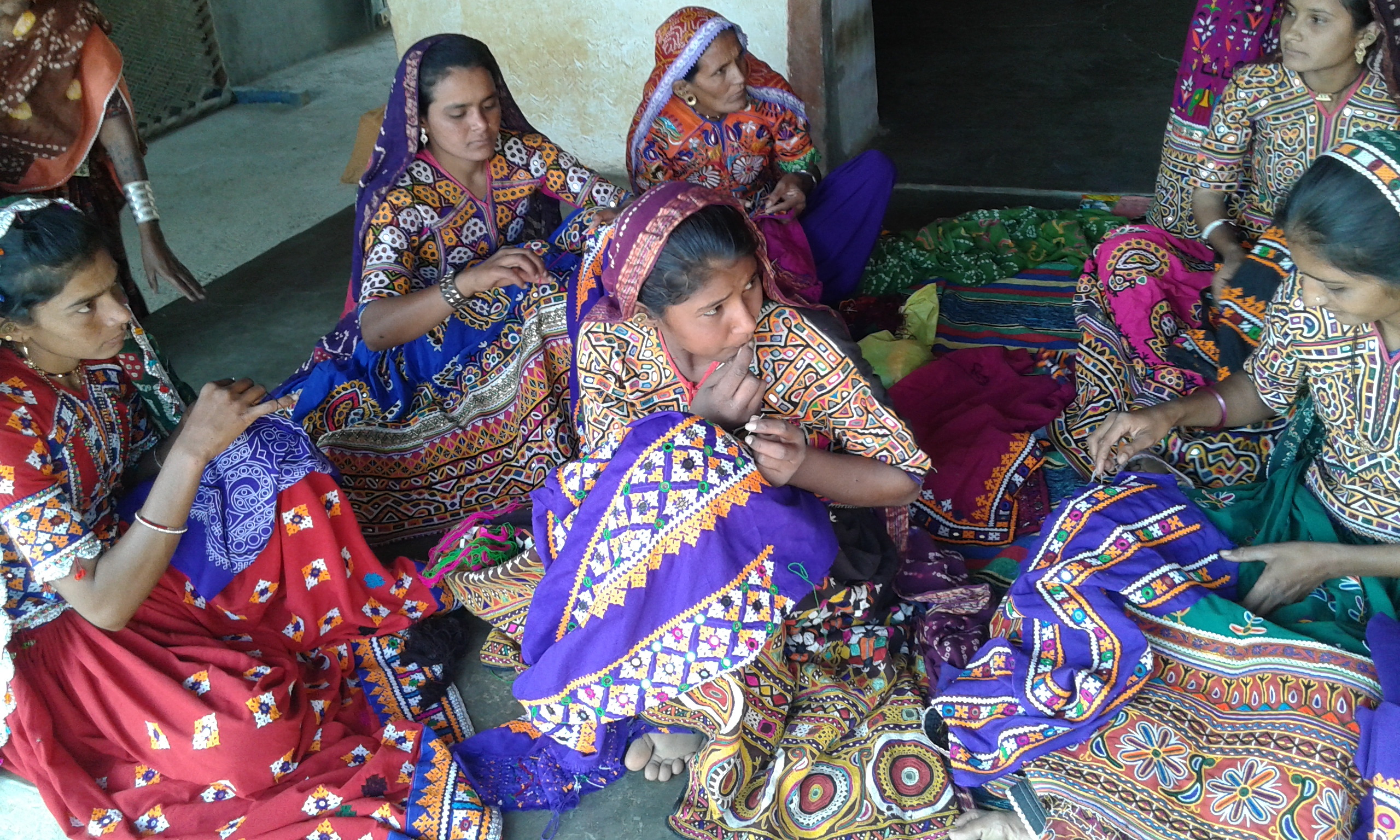 Younger generations hone their skills in traditional embroidery in Gujarat's Patan district. Photo Credit: Self Employed Women's Association (SEWA)