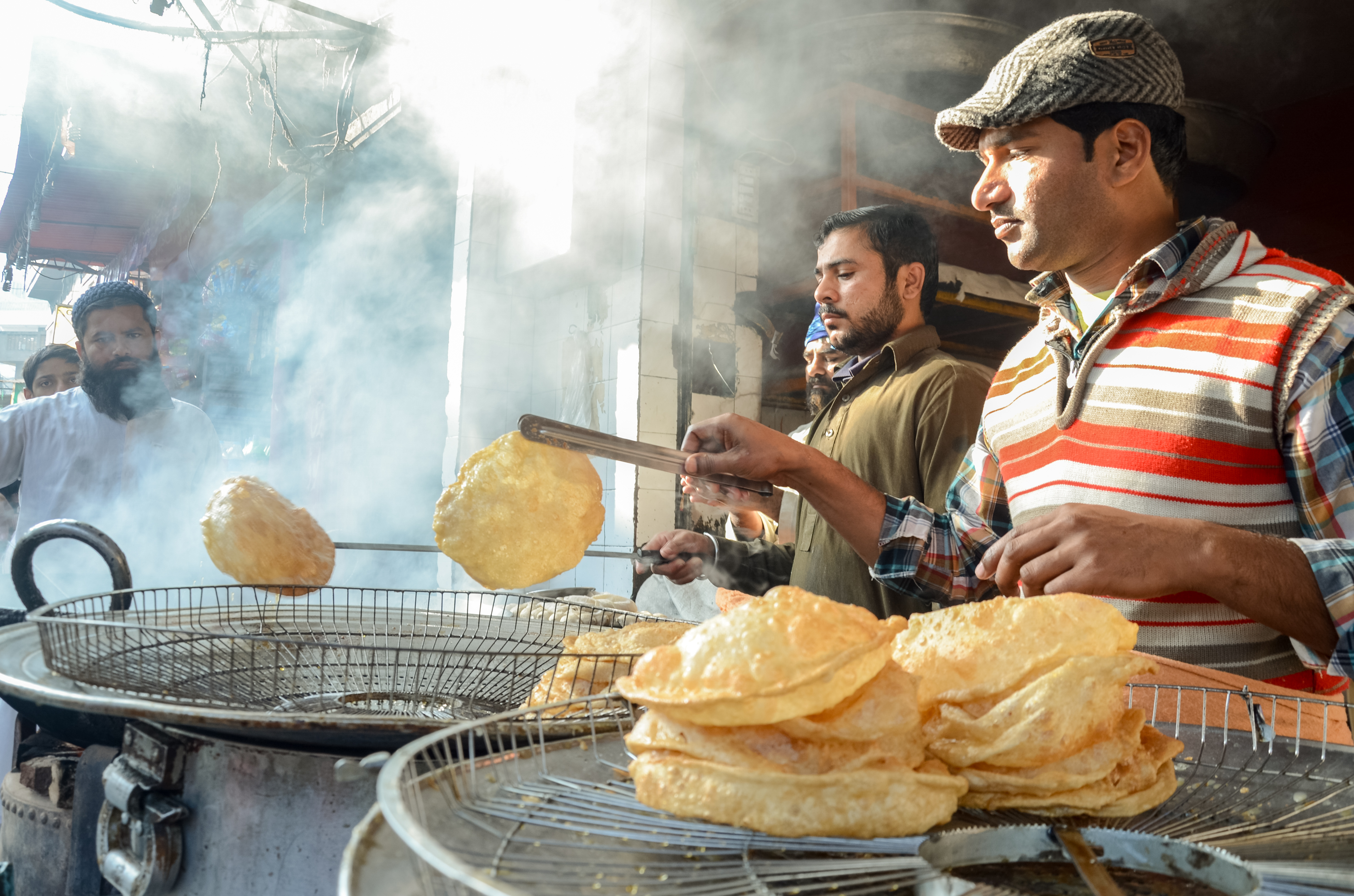 The Famous Food Street near Badshahi Mosque, Lahore, Punjab, Pakistan