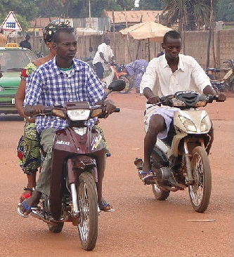 young men on the move in Bobo-Dioulasso