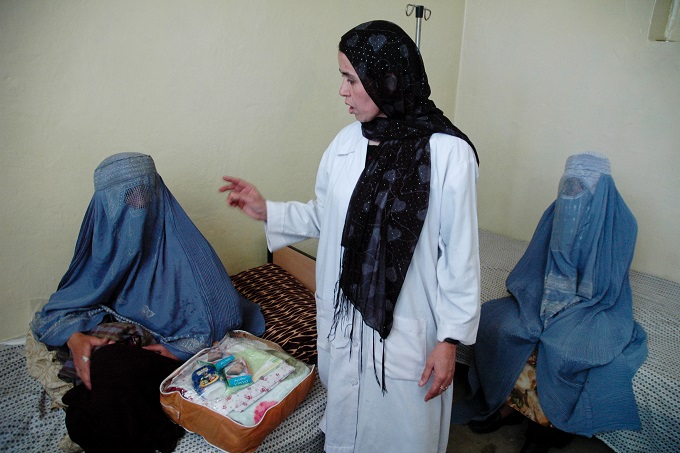As a result of awareness raising campaigns, many rural women like Guljan in Faizabad city of northwestern Badakhshan Province are now regularly going to health centers for consultation on various health issues.