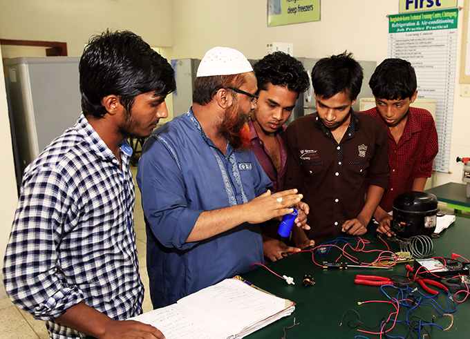 Instructor and Students at the Bangladesh Korea Technical Training Center, Chittagong