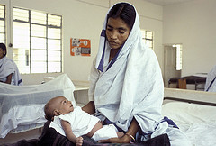 An Indian mother with her newborn