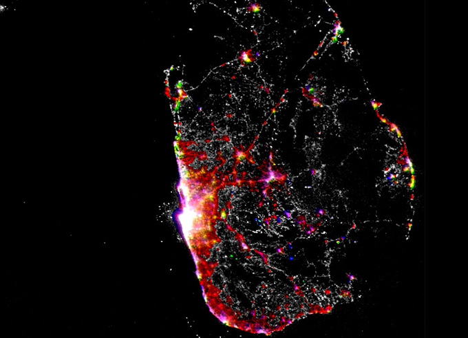 Sri Lanka night lights