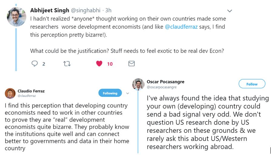 Should we worry about home bias in development research?