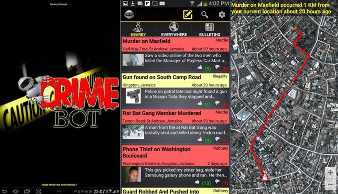 Open Data On the Ground: Jamaica's Crimebot
