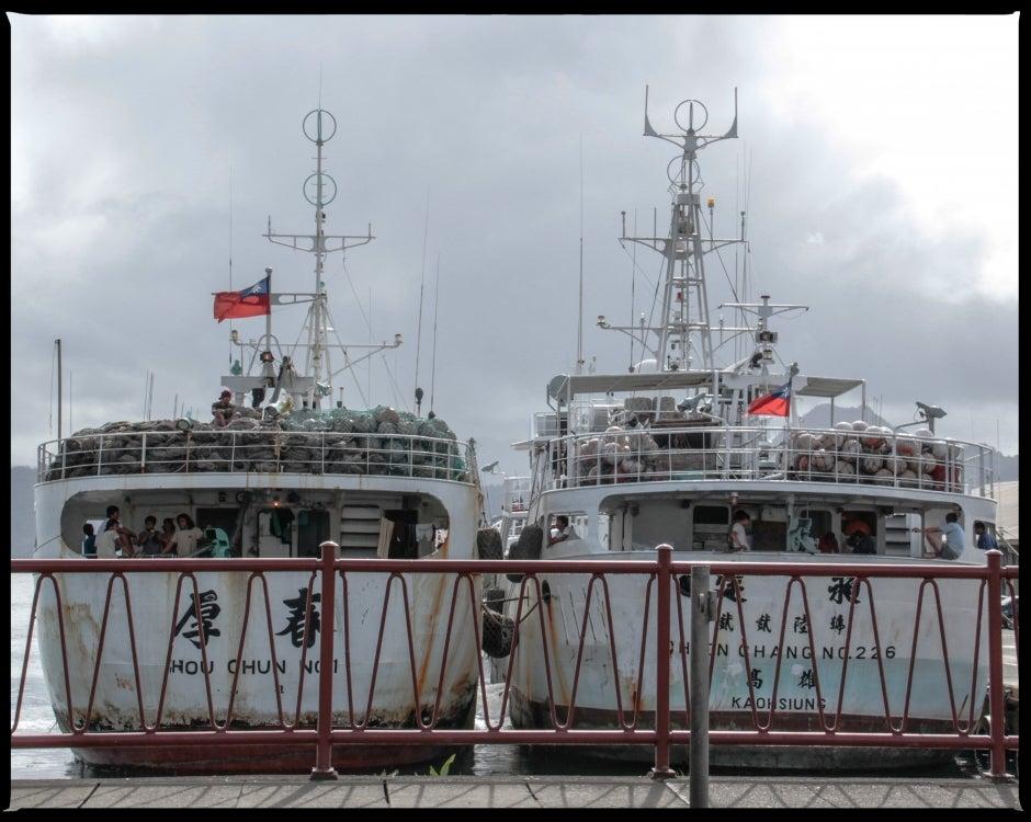 Fishing Boats in Suva Harbor, Fiji.