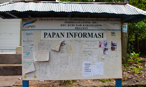Community information board