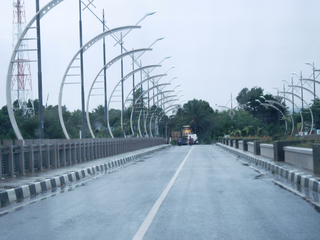 Bridges and roadways in Banda Aceh are pothole free (Credit: David Lawrence)