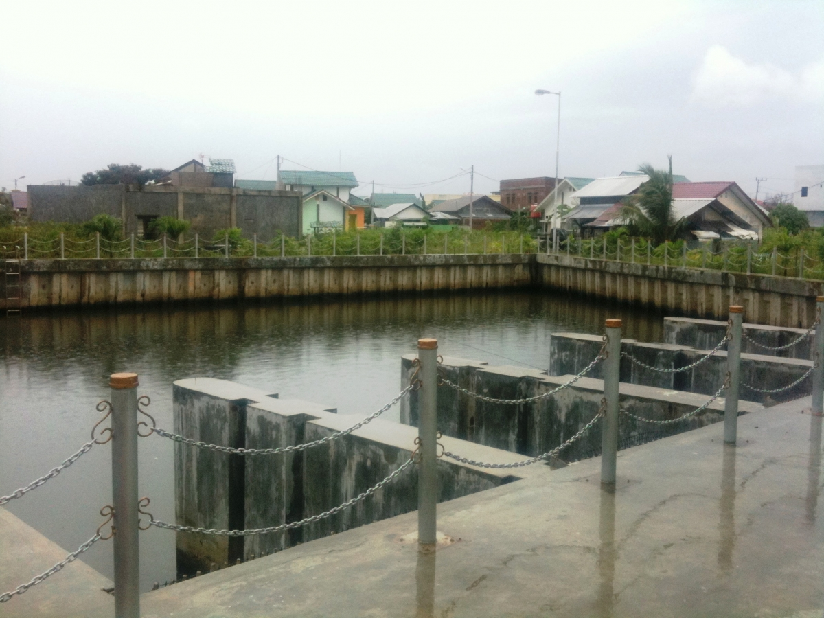 The new flood control system in Banda Aceh will help residents cope with heavy rains. (Credit: David Lawrence)