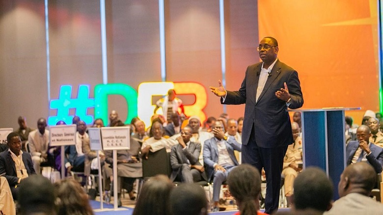 Senegal President Macky Sall at the DER townhall Startup Act