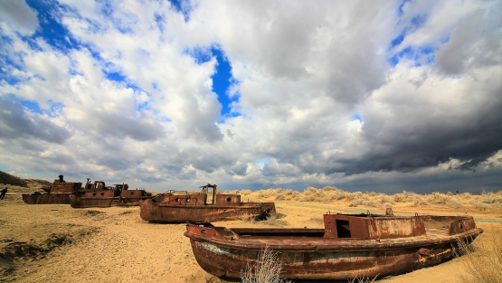 The Central Asian Drylands, including the Aral Sea, are one of the most rapidly degrading areas in the world. Photo: © Yuriy Korsuntsev/World Bank