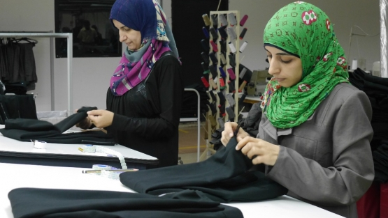 Jordanian workers in garment factories