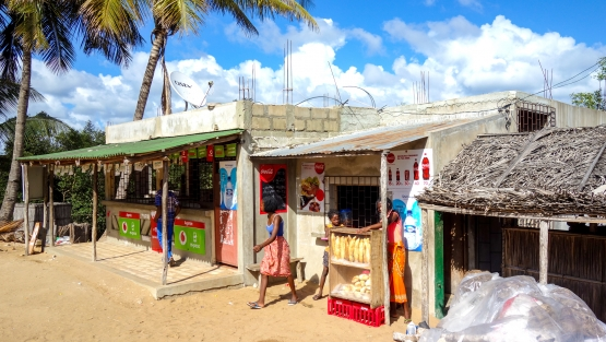 Small shop for food and drink products for sale in Vilanculos, Mozambique, Africa