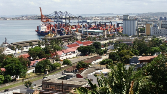 The Port of Salvador in All Saints Bay, Brazil