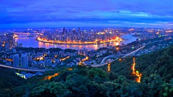 Night view of Chongqing