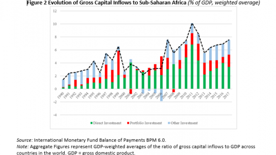 Evolution of Gross Capital Inflows to Sub-Saharan Africa