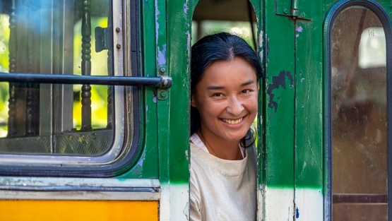 Woman on a bus. Photo: © leshiy985/Shutterstock