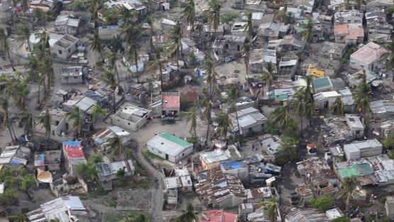 Aerial view of Beira, Mozambique after the impact from cyclone Idai, May 3, 2019