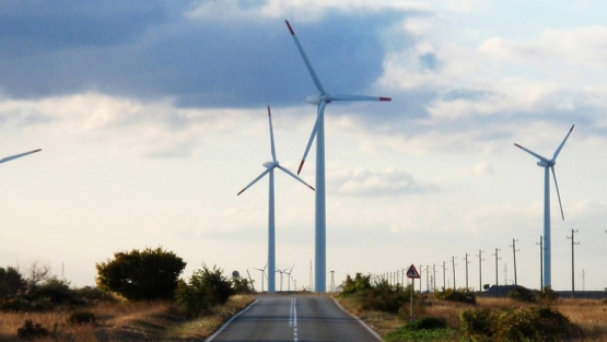 Wind park near the village of Bulgarevo, Bulgaria.