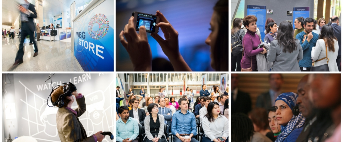Connect, engage and watch the World Bank Group activities at the 2019 Annual Meetings. Photos: © World Bank