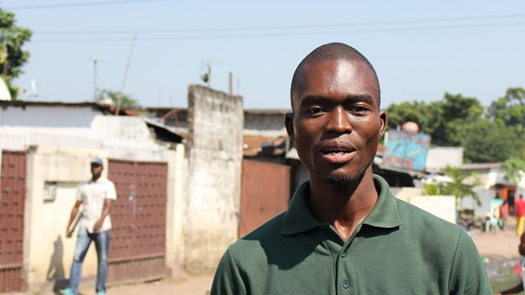 Christ Mboungou, local cartographer from Moukoundzi-Ngouaka, says he wants to use the skills he gained to map climate risks in his neighborhood and develop better infrastructure.