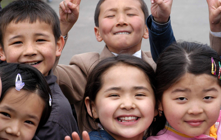 Schoolchildren in Kazakhstan