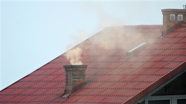 Somg in Poland: a roof chimney