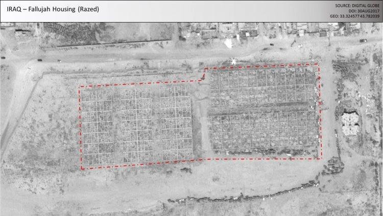 Aerial view of Fallujah, Iraq