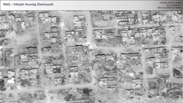 Aerial view of Fallujah housing that was destroyed