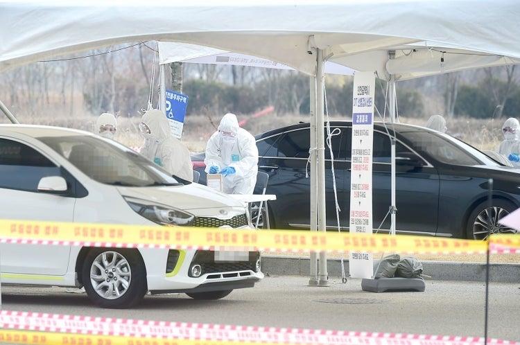 A COVID-19 drive-through testing site in Incheon, Korea. (Photo: Incheon Metropolitan City)