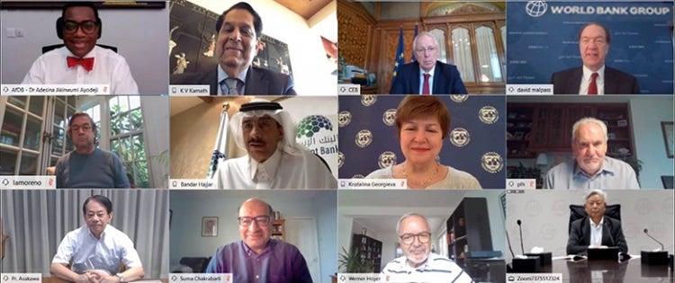 Réunion virtuelles aves les dirigeants des banques multilatérales de développement (BMD) régionales