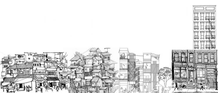 Sketch of a city by Somya Bajaj