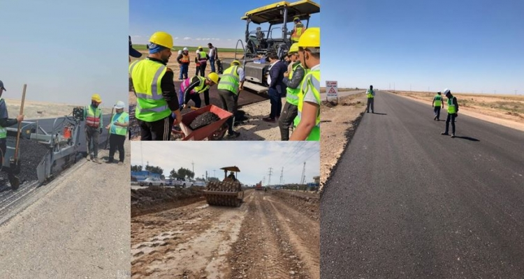 Photos of roads being reconstructed in Iraq by Ali Mansour Al-Khayat, part of the progress he photographed as a member of the Diyala WhatsApp group monitoring Bank projects.
