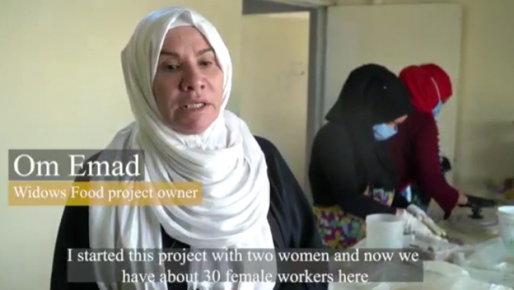 Still from a video on Um Emad, an entrepreneur in Iraq who started Widows Food company,by Suker Maen Al-Zakaria