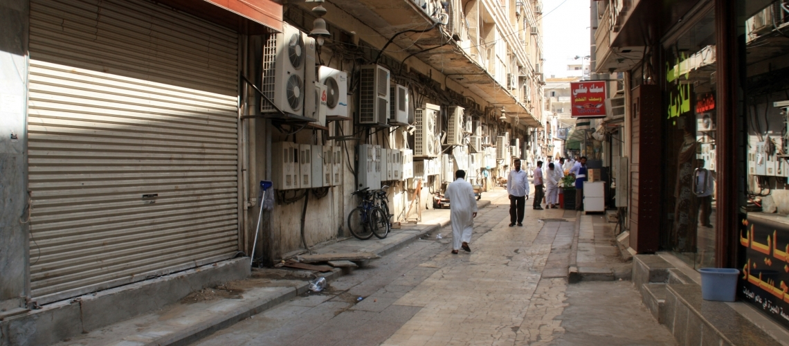 Street in Al-Balad, Jeddah's historic district, Saudi Arabia. © schusterbauer.com / Shutterstock.com