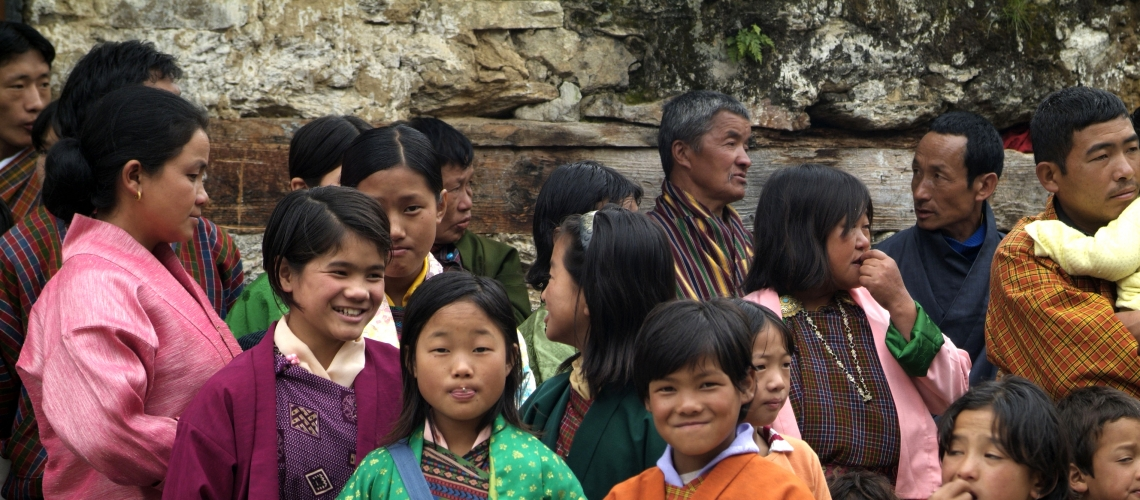 Bhutan children attend an event. Photo: Shutter Stock