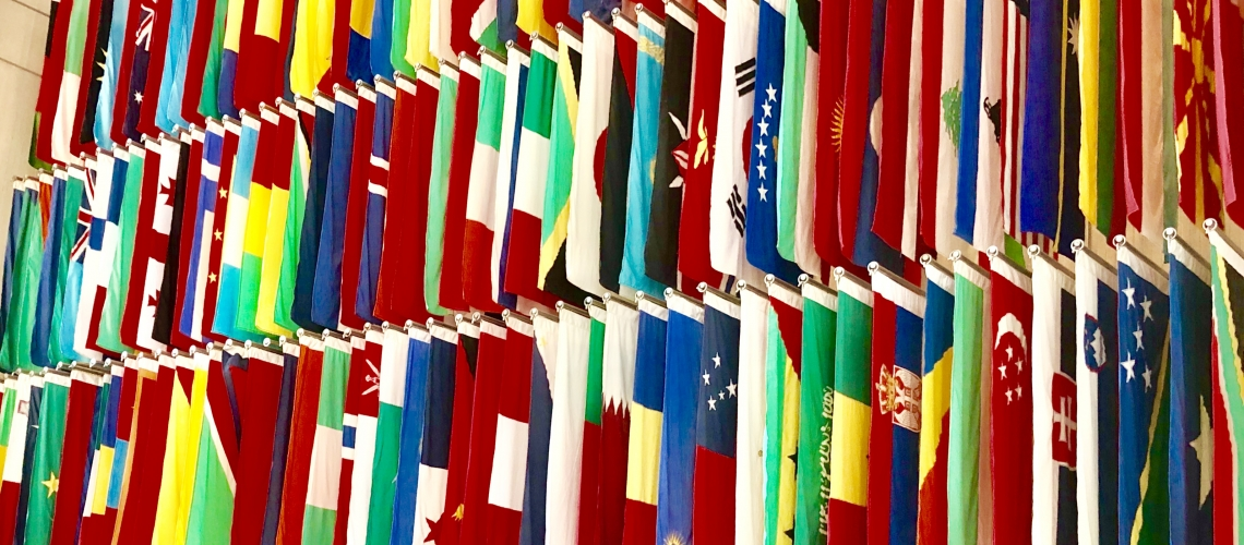 Flags in World Bank headquarters
