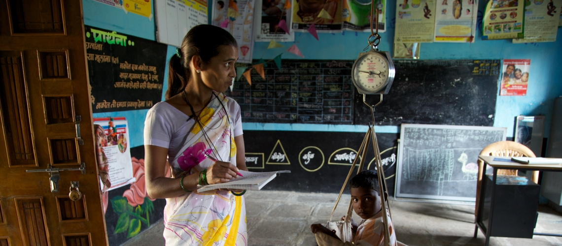 1.4 million anganwadi workers are critical for India's efforts to build its human capital