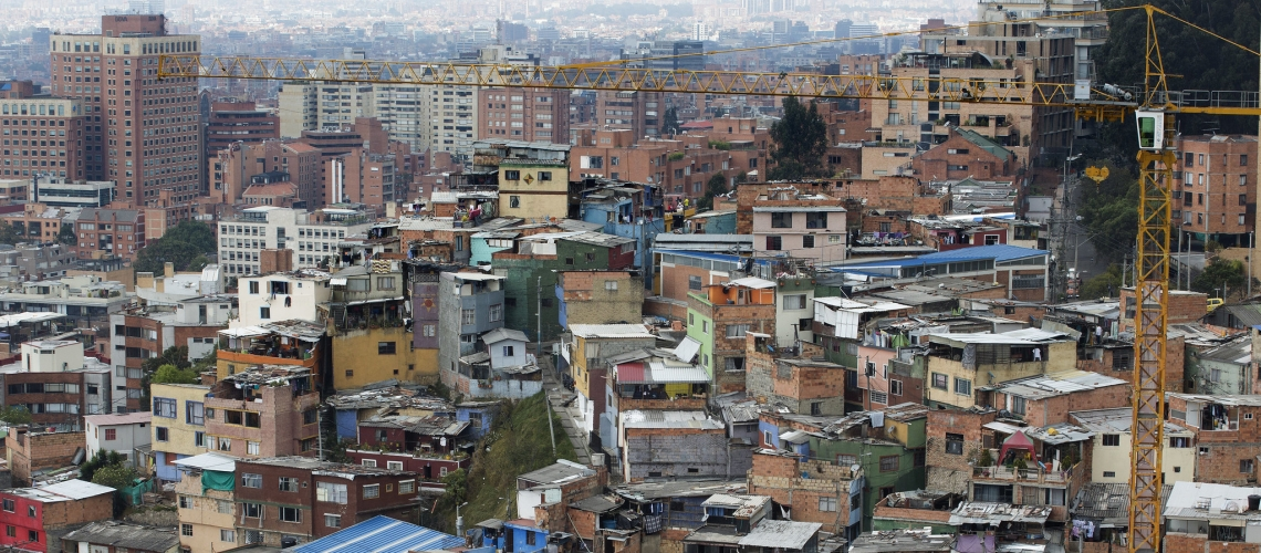 City view of Bogotá, Colombia. © Dominic Chavez/World Bank