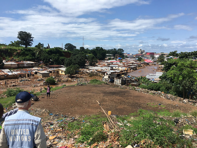 2017 damage and loss assessment following landslides and floods in Sierra Leone. Photo: World Bank