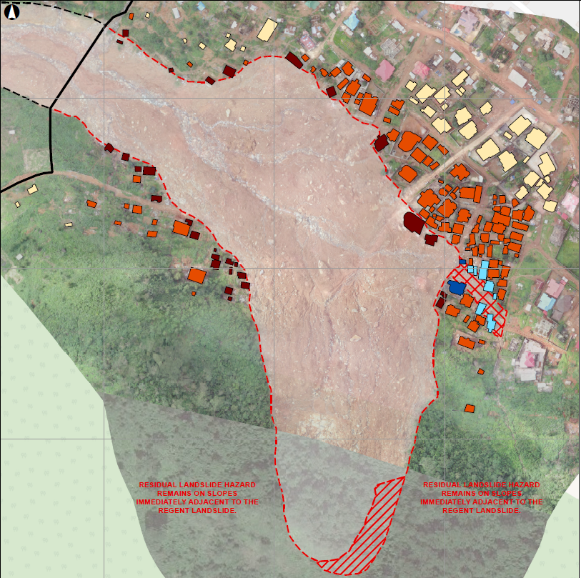 An assessment of over 100 houses during mudslides during rainy season