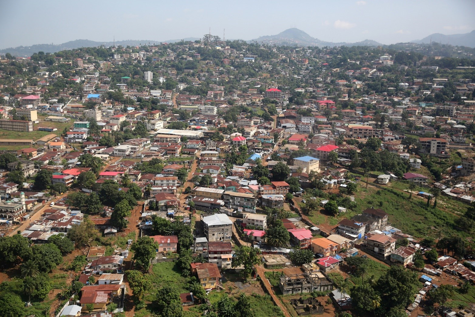 A view of Freetown Sierra Leone on December 3, 2014