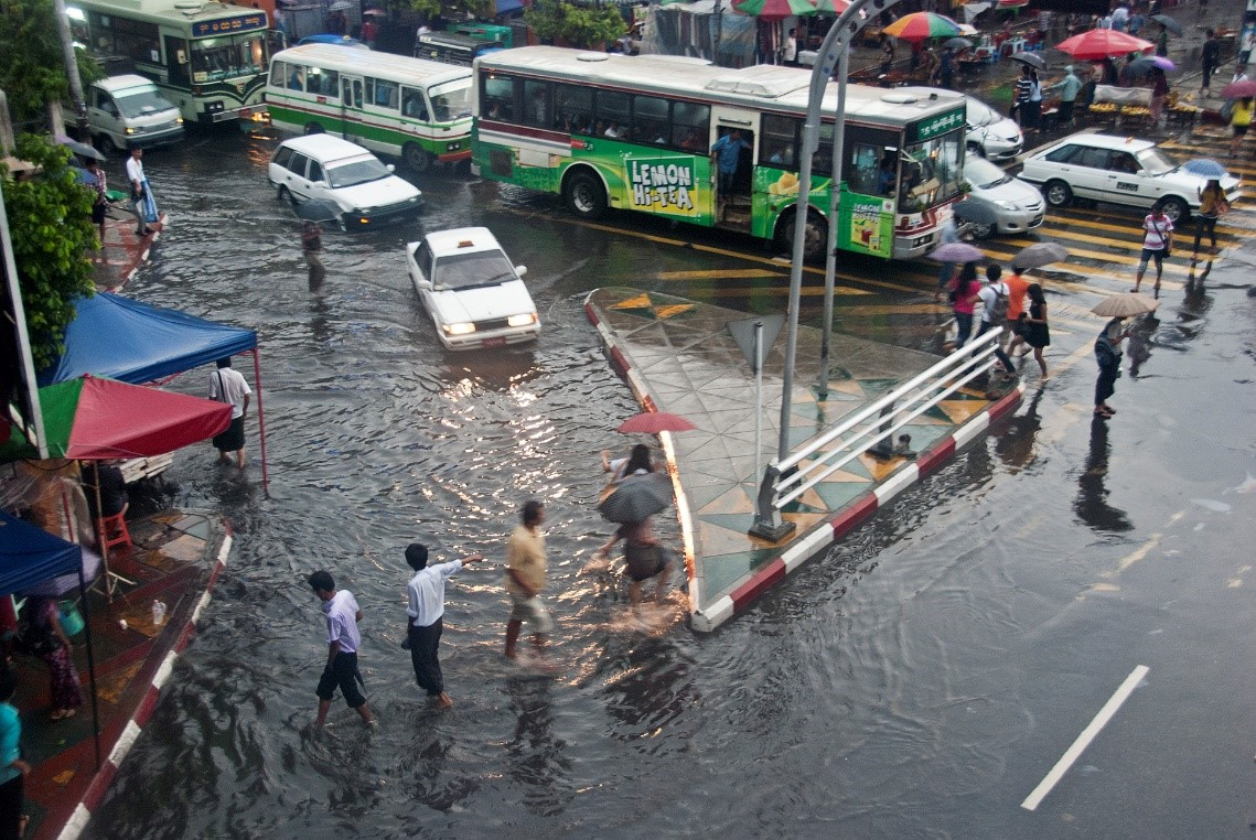 Photo: Flooding in Yangon. Source: Flickr
