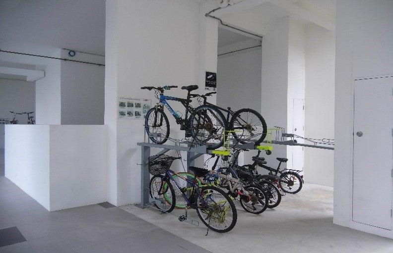 Neighborhood bicycle racks