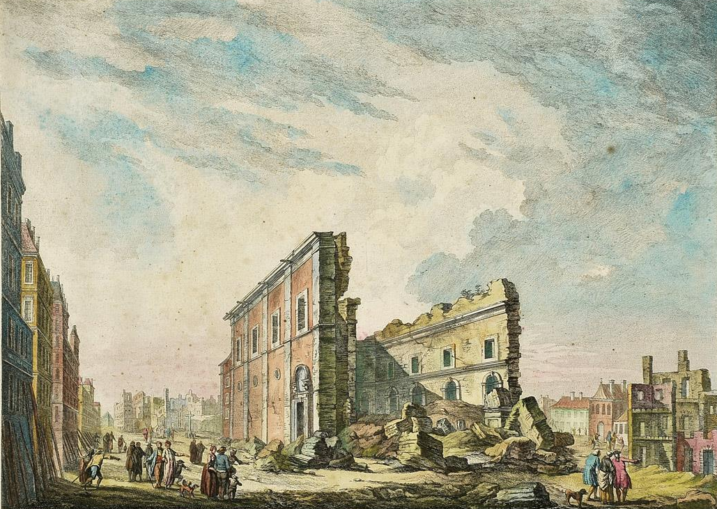 Ruins of the Church of Saint Paul, following the 1755 Lisbon earthquake. (Photo via Wikimedia Commons)