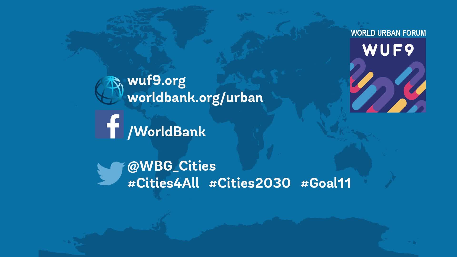 Follow the World Bank at the World Urban Forum! (Image: World Bank)