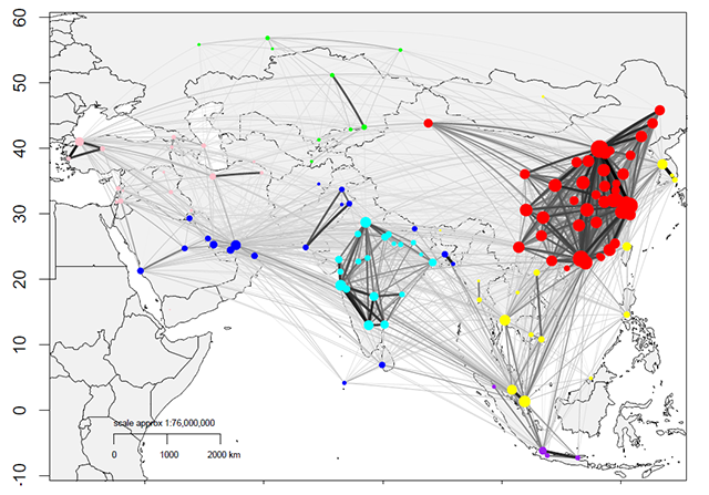 Six corridors of integration: Connectivity along the overland