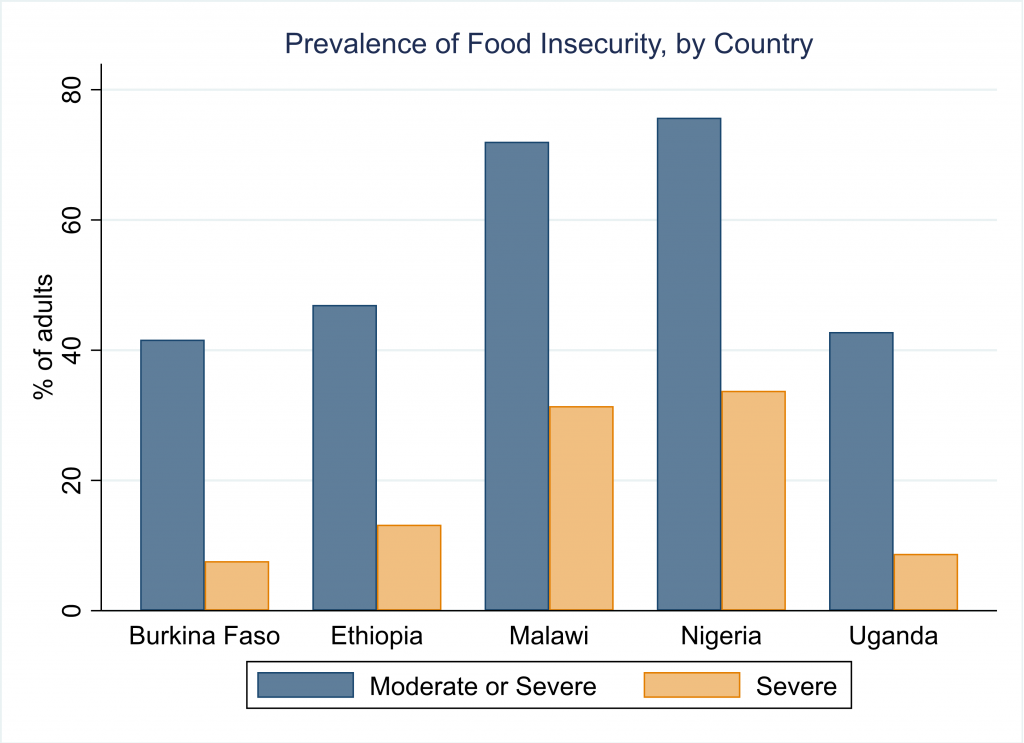 prevalence of food insecurity by country